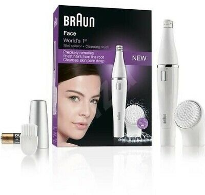 Braun Facial Epilator Womens Face 832 With Cleansing Brush and Case
