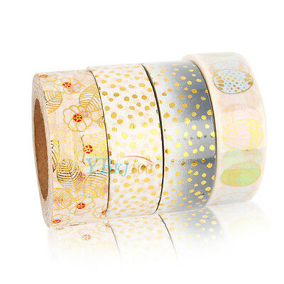 1.5cm X 10m Gold Foil Printing Washi Tape for Christmas Birthday Anniversary Set