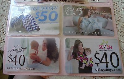 4 Baby Item Gift Certificates Coupons for Seven Carseat Canopy Uddercovers  L@@K
