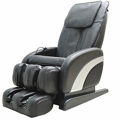 Full Massage Chair Electric Luxury Leather Reclining Chair Body Relax Armchair