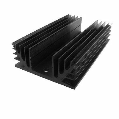 sourcingmap Black Aluminum Heat Sink Heatsink for Three Phase Solid State Relay