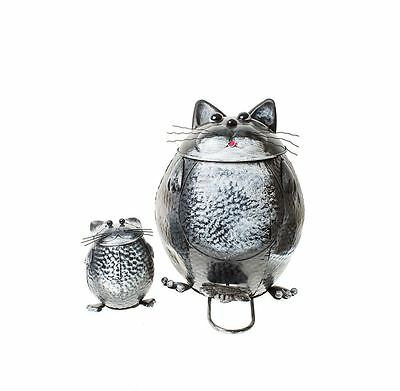 Heaven Sends Metal Cat Garden Bin and Small Cat Bin Inside Set of 2