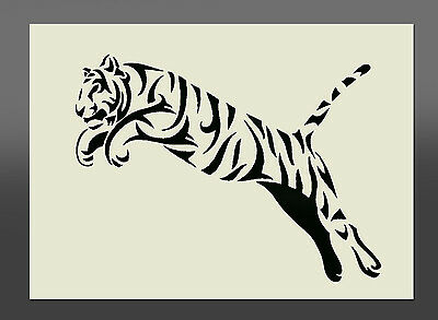 Tiger Design Stencil - Various Sizes - Made From High Quality Mylar