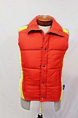 Vtg 1970's Mountain Goat Puffer Vest Sz Small Retro Ski Racing