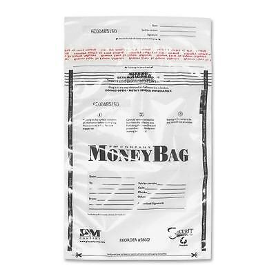 "Pm Company Disposable Money Bag Plastic 12""x16"" 100/PK Clear 58004"