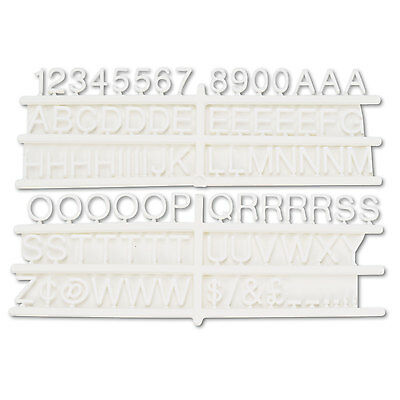 """U.S. Stamp & Sign Character Kit w/ Letter/Numbers/Symbols 3/4"""" 258 Ct. White"""