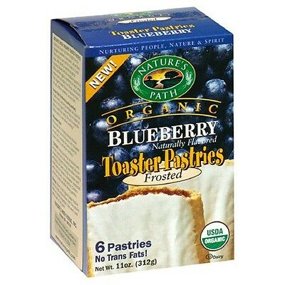 Natures Path 32283 Frosted Blueberry Toaster Pastry. Free Shipping
