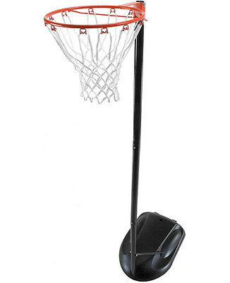 Action Sports Portable Regulation Height Netball Ring Pole Hoop Stand Steel 10ft