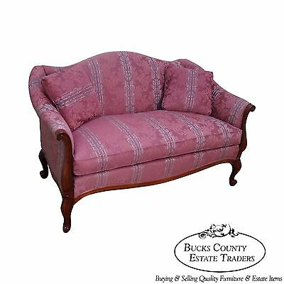 Hickory Chair French Style Solid Mahogany Frame Loveseat (A)