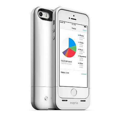 Mophie Space Pack Battery Charger Case 16Gb Storage For Iphone 5/5S - White 2616