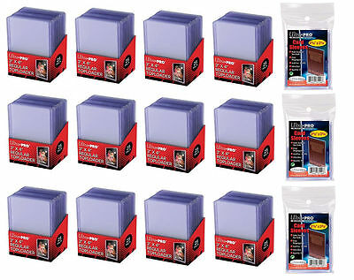 300 Ultra Pro Regular 3 x 4 Toploaders New top loaders + 300 3 pack soft sleeves