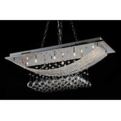 Idx-3018-8 Modern Ornate Crystal Ceiling Light Chandelier Chrome  Free Shipping