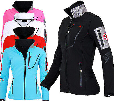 GEOGRAPHICAL NORWAY Damen Softshell Jacke Regen Übergangs jacke Outdoor Sport