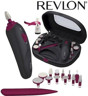 Revlon Womens Nail Manicure Set Cord Cordless Rechargeable 13 Piece Style & Dry