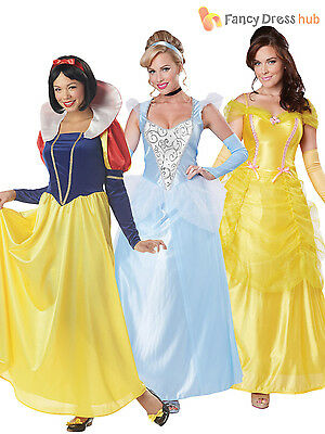 Ladies Deluxe Princess Fairytale Costume Adult Womens Fancy Dress Outfit 8 - 16
