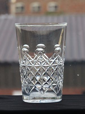 Webb Corbett Crystal Cut Glass Tumbler