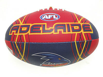 Afl Adelaide Crows Full Size Synthetic Team Football - Brand New