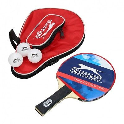 Slazenger Table Tennis Bat with Balls and carry case ping pong sport indoor
