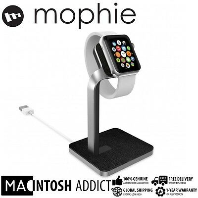 Mophie Premium Charging Dock for Apple Watch | Aluminium| Leather | Night Stand