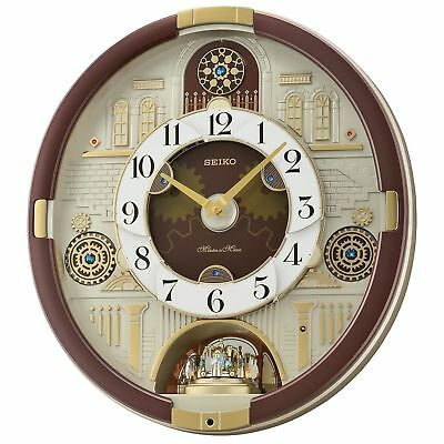 New Seiko Melodies in Motion 2016 Animated Musical Christmas Carol Wall Clock
