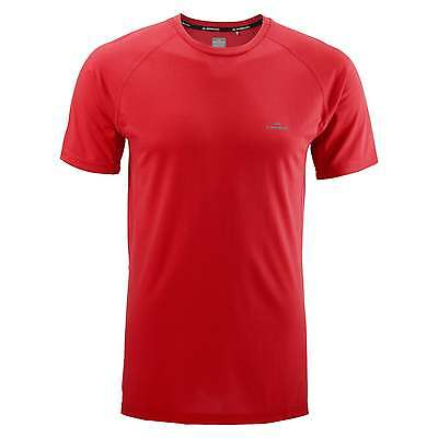 Kathmandu driMOTION Mens Short Sleeve Tee Active Running T-Shirt Sports Top Red