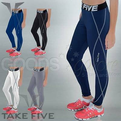 Womens Compression Tights Lightweight Base Layer Long Pants XS-4XL Skins Take 5