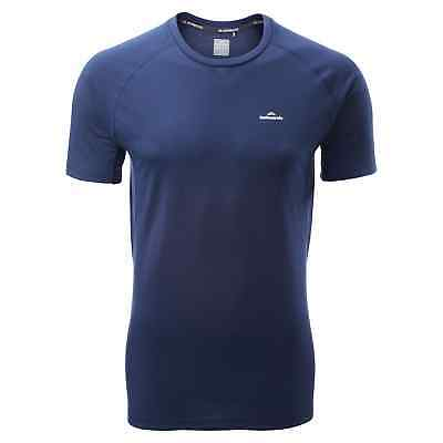Kathmandu driMOTION Mens Short Sleeve Tee Active Running T-Shirt Sports Top Grey