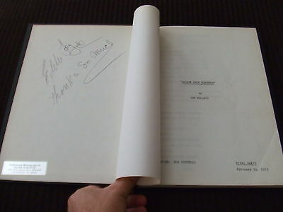 SIGNED 1973 Gift Of Terror ABC TV Movie Script Will Geer Alexander HC Bound FOY