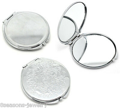 Hot Portable Pocket Mirror Compact Double Side Makeup Cosmetic Round