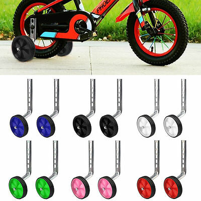 "Child Kids Bicycle Training Wheels Bike Stabilisers Cycle Universal 12-20"" Inch"