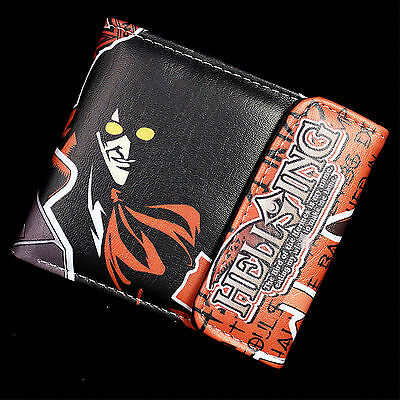 hellsing Leather Wallets Fashion man&woman cosplay Two-fold Purse Anime