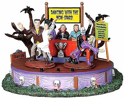 Lemax 94957 DANCING WITH THE MON-STARS Spooky Town Table Accent Animated Decor I