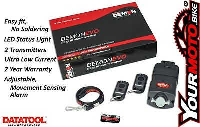 Datatool Demon Evo Compact Self Fit Motorcycle and Scooter Movement Sensor Alarm