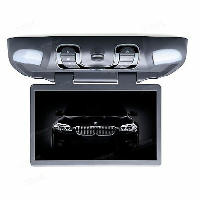 "XTRONS 15.6"" HD Car Roof Mount Overhead Monitor DVD Player USB/SD/AUX/Game Grey"