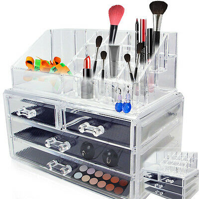 Acrylic Jewelry Makeup Cosmetic Organizer