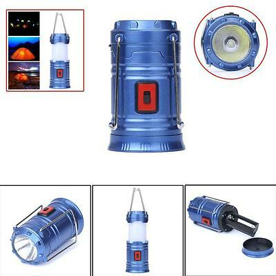 Solar USB Rechargeable Camping Hiking Light Lamp FlashLight Outdoor Tent Lantern