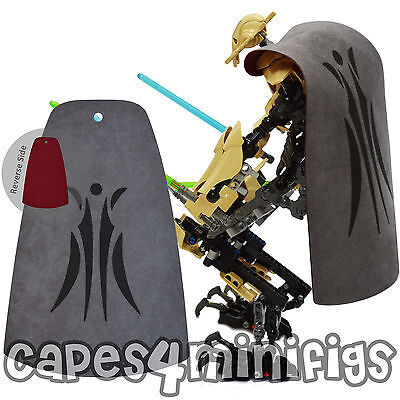 Large CUSTOM Lego Starwars General Grievous 75112 capes - 2 designs. CAPE ONLY