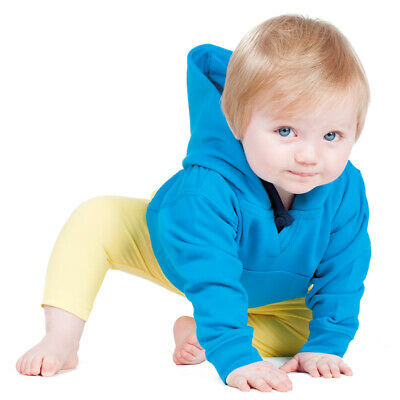 Larkwood Toddler Hooded Pullover Sweatshirt Kangaroo Pocket Warm Plain Hoodie