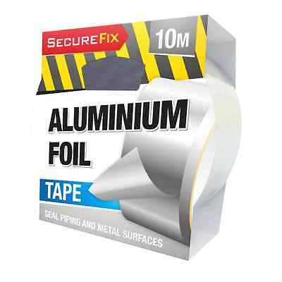1 Roll 48mm x 10m Aluminium Foil Self Adhesive Quality Heat Insulation Tape OTL