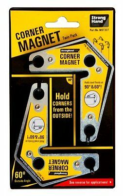 Strong hand Tools MST327 Corner Magnets Twin Pack, 3.25-Inch x 3.75-Inch by Stro