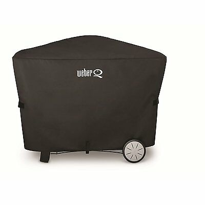 Weber 7112 BARBECUE GRILL COVER FOR Q2000 SERIES WITH Q CART & Q3000 SERIES BAG