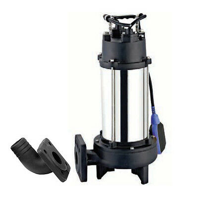 IBO Heavy Duty 1.8KW ULTIMATE GRINDER Power Submersible Sewage Dirty WATER PUMP