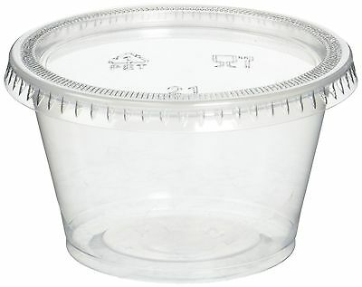 Reditainer Plastic Disposable Portion Cups Souffle Cup with Lids 4 Ounce