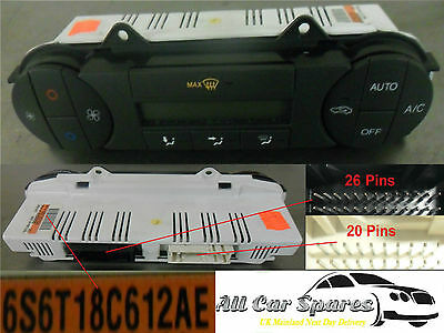 Ford Fiesta Mk6 - Heater Control Switches / Dials With Aircon / Air Con