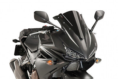 Puig Double Bubble Screen For Honda Cbr500R Year 2016 Colour Black.