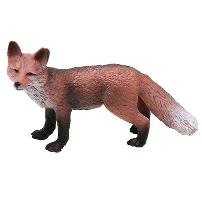 Realistic Red Fox Wild Zoo Animal Model Figure Kids Educational Toy Gift