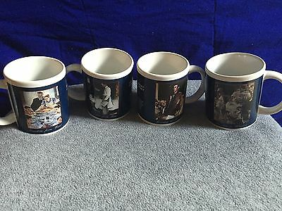 Lot Of 4 Norman Rockwell Saturday Evening Post Freedom Coffee Mug Set