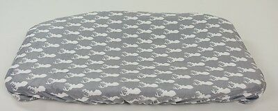 Danha gray deer baby changing pad cover woodland grey
