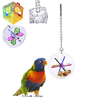 Parrot Bird Cage Feeder Hang Foraging Macaw Cockatoo Toy For Pet Treat Hunt Tool