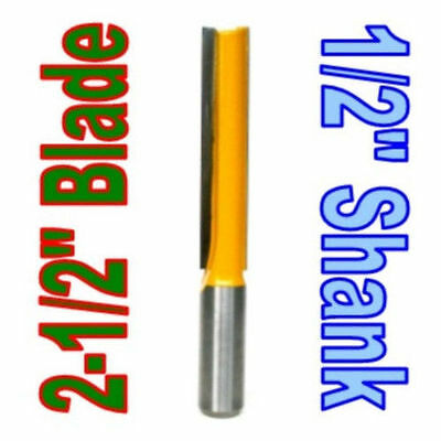 """1 pc 1/2"""" SH 2-1/2""""  Extra Long Straight Router Bit S"""